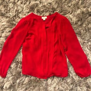 Ann Taylor Loft Silky Red Blouse